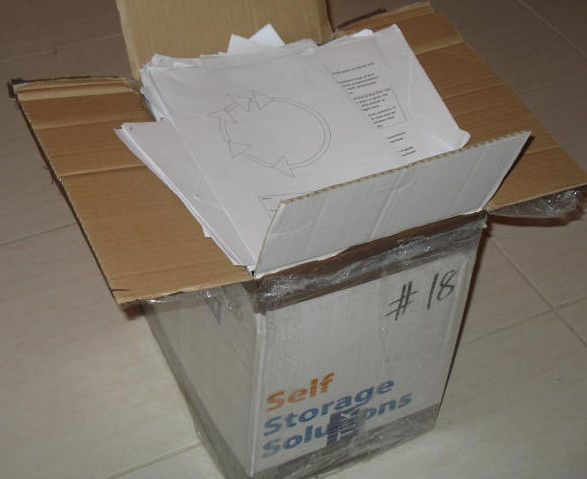 Photo of opened Box 18